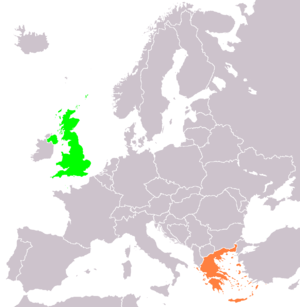 Locator map of the United Kingdom and Greece, ...