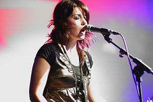 Laura-Mary Carter of english rockband blood re...