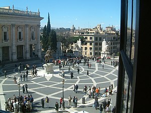 View from the Piazza del Campidoglio