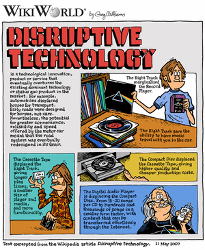WikiWorld comic based on article about Disrupt...