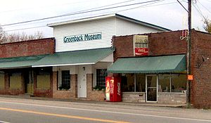 The Greenback Drugstore at the junction of Ten...