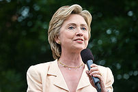 Hillary Rodham Clinton campaigning, 2007