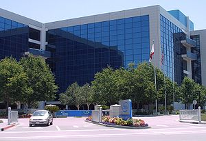 The headquarters of Intel Corporation in Santa...