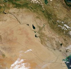 עיראק ממבט לווין. cc: ויקיפדיה