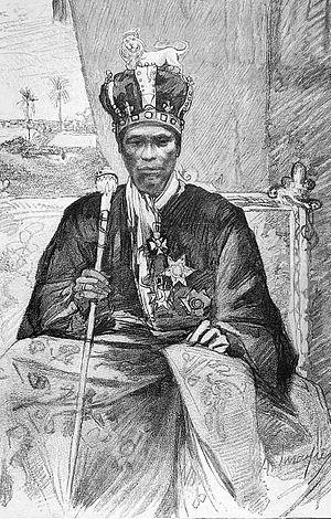English: King Toffa of Porto-Novo