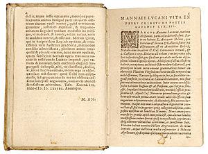 Lucanus, De bello civili ed. Pulmann (Plantin ...