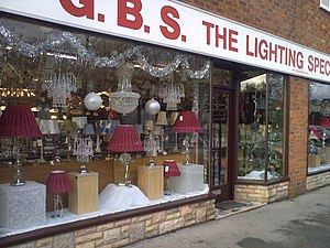 English: Now, what type of light fitting were ...