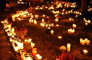 All Saints Day 2010 at Skogskyrkogården in Sto...