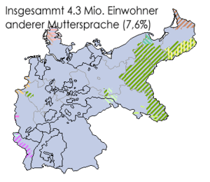 Locator map for the lingual minorities of the ...