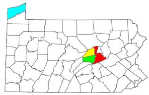Locator map of the Sunbury-Lewisburg-Selinsgro...