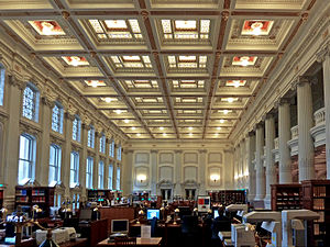 English: The reading room of the library of th...