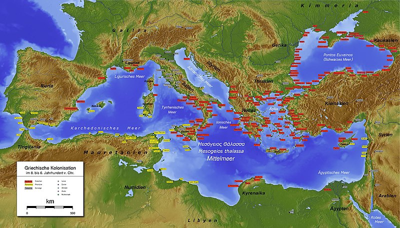 Map of Ancient Greek Colonies