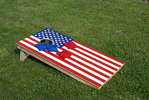 Cornhole Board USA. Made in Switzerland. Also ...