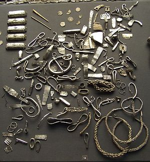 A selection of Viking silver from the Cuerdale...