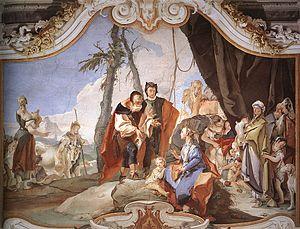 Giovanni Battista Tiepolo - Rachel Hiding the ...