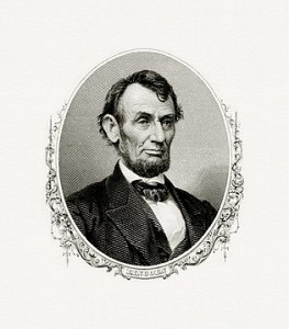 Abraham Lincoln   Wikipedia Bureau of Engraving and Printing engraved portrait of Lincoln as President