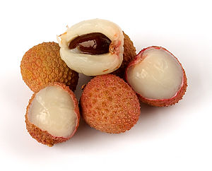 English: Litchi chinensis. Français : Litchi c...