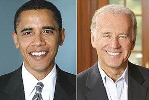 English: Barack Obama and Joe Biden