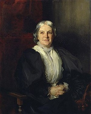 English: Octavia Hill by John Singer Sargent (...
