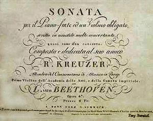 Frontispicio de la Sonata a Kreutzer