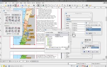 English: Screenshot made using Scribus 1.3 on ...