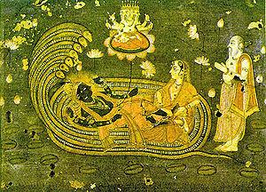 Eighteenth century Vaishnava painting deciptin...