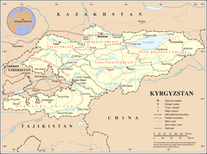 An enlargeable map of the Kyrgyz Republic