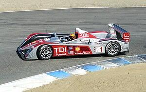 English: Audi R10 TDI, ALMS at Laguna Seca, Oc...