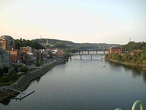 Augusta, Maine --- taken from 'the big bridge.'