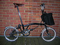 A Brompton Bicycle, a type of folding bicycle
