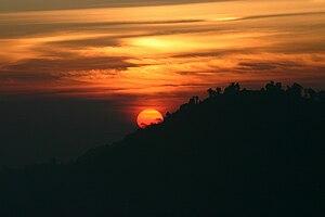 Sunrise in Tiger hill, Darjeeling, India