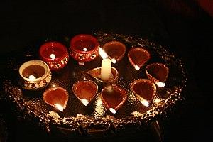 English: Diwali lamps