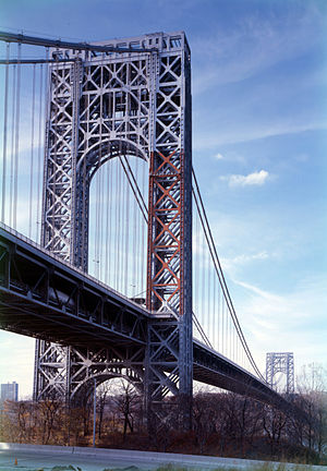 George Washington Bridge, spanning the Hudson ...
