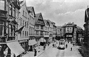 Kreuzplatz in Giessen, Germany; around 1920