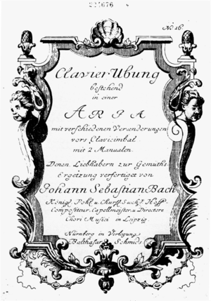 Title page of the Goldberg Variations (first e...