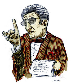 Drawing. Jacques Lacan, french psychoanalyst.