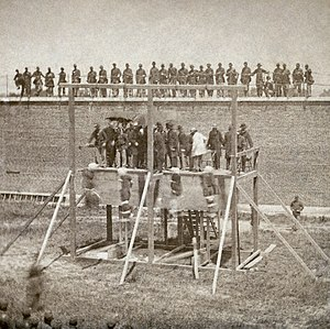 Execution of Mary Surratt, Lewis Powell, David...
