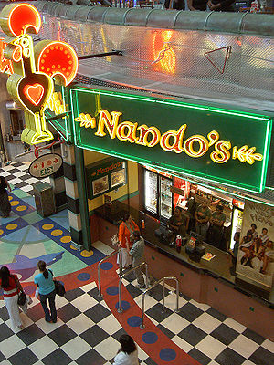 Nando's take-away in Canal Walk Shopping Mall,...