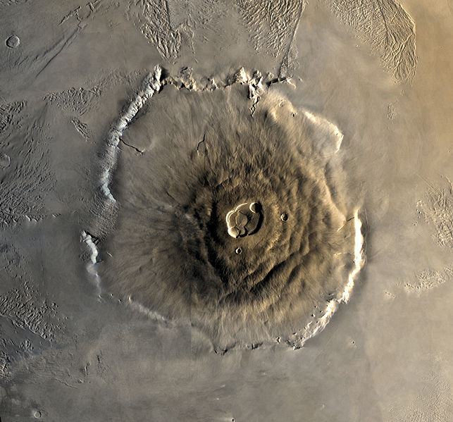 An aerial view of Olympus Mons | Image: Wikipedia