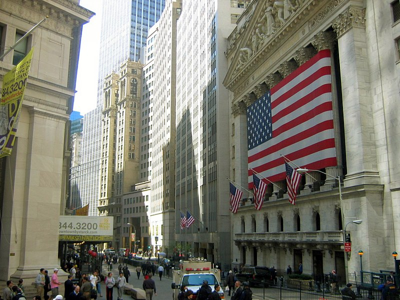 New York Stock Exchange - Image From Wikimedia