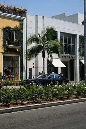 A photograph taken of Rodeo Drive in Beverly H...