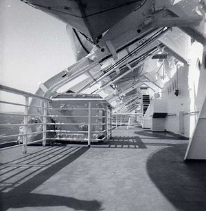 SS United States sun deck during eastbound tra...