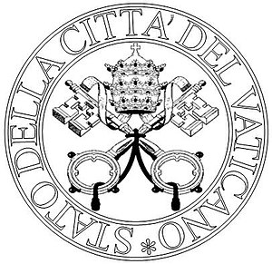 English: Seal of the State of Vatican City mod...