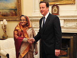 English: Prime Minister David Cameron welcomed...