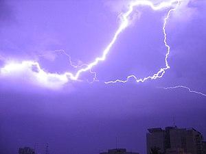 The thunder and lightning