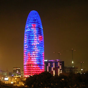 Torre Agbar in Barcelona, Spain, architect: Je...