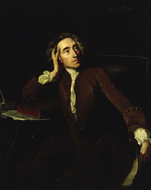 Portrait of Alexander Pope, oil on canvas.