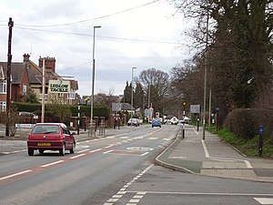 English: Burway. View towards Ludlow along wha...