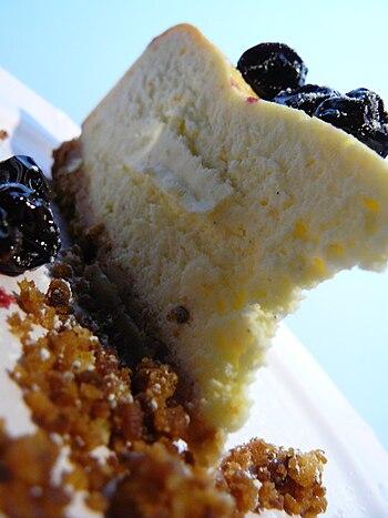 Un vrai cheese cake à l'anglaise, pas de doute...