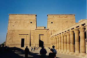 English: The Egyptian temple of Philae. Taken ...